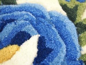 萩原 玄関マット マット 「カレン」 ブルー 約45X75 270048605