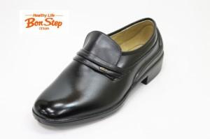 074184cba826f4 Bonstepボンステップ5052黒4E 本革メンズビジネスシューズ 防水靴 ゆったりワイド【