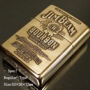 【ZIPPO】ジッポ/ジッポー Jim Beam Brass Emblem ジムビーン 内部のユニット彫刻無料254BJB929