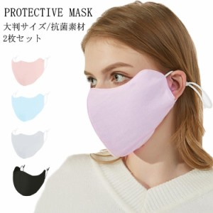 大判サイズ マスク 洗える 抗菌加工 2枚セット ウィルス飛沫 予防対策 マスク 大人用 抗ウイルス マスク 花粉対策 インフル