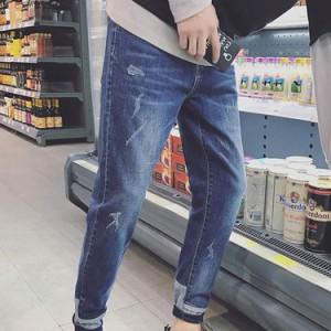 パンツ/メンズ/ズボン/デニムパンツ/スキニーパンツ/スリムパンツ/スキニーデニム/ジーンズ/ジーパン/ボトムス/ダメージ/細身/ストレッチ