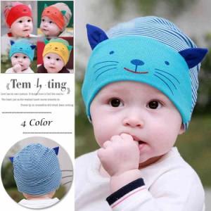 ニット帽 ベビー 子供帽子 猫柄 ベビー帽子 とんがり ボンボン ニットキャップ 子供用ニット帽 ニット帽子 キッズ 女の子 帽