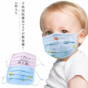送料無料 2枚入り 洗える抗菌マスク キッズ マスク 布マスク 子供用 ガーゼマスク ウイルス対策 綿 マスク 花粉ブロック