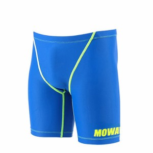 3d094e16a71 MOWAVE モワビ スイムウェア ネオンライン ブルー 水着 メンズ 男性 5分丈 フィットネス 水泳 競