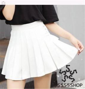 [55555SHOP]スカートの女性 春夏 新しいデザイン 若いもの プリーツスカート ハイウエスト 光 何で