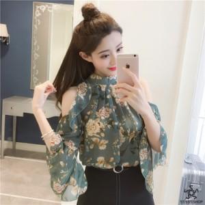 [55555SHOP]★新製品の入荷★韓国ファッション?限定発売?半袖    上着    レーヨン   花柄   スデンカラー