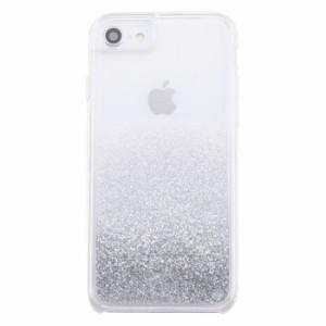 a4dc30680b iphone グリッターケース iPhone8 iPhone7 iPhone6s/6 カバー ラメ グリッター ケース / シルバー