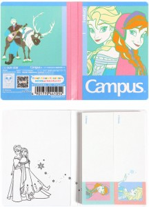 ディズニー アナと雪の女王 Campus キャンパス 付せん アナと雪の女王 アナ&エルサ☆ディズニー デザインコレクション7シリーズ