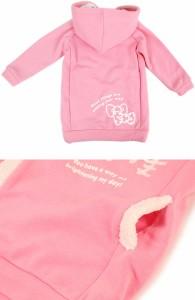 ハローキティ パーカー ワンピ 90cm ピンク☆サンリオ キッズ秋冬ファッションシリーズ★クロネコDM便不可