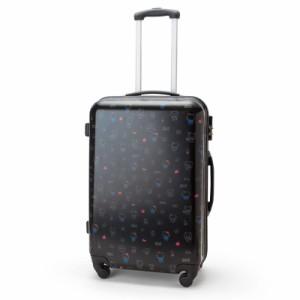 734f2dc7d4 ハローキティ キャリーバッグ キャリーケース スーツケース ブラック ミルク L☆サンリオ トラベルグッズシリーズ