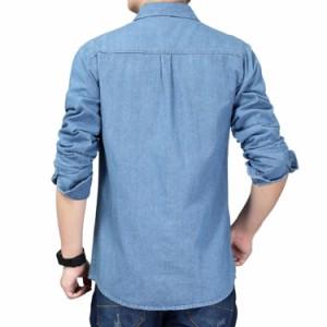 送料無料 XS-5L展開!大人定番のデニムシャツ デニムシャツ メンズシャツ メンズ シャンブレーシャツ  ダンガリーシャツ ト