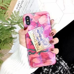 """""""iPhone Xケース iPhone 8 iPhone 7ケース 背面ガラス iPhoneケース 耐衝撃 軽量 iPhone7 plus ケース 可愛い おしゃれ ピンク系"""""""