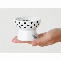 猫壱 ハッピー 脚付おやつ皿 水玉 猫用 食器 おやつ入れ フード