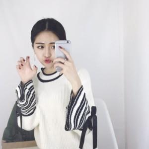 【送料無料!!】ニット セーター フレア袖 ベル袖  長袖 yk0563swt
