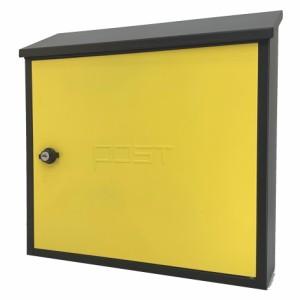 郵便ポスト郵便受けスタンド型メールボックス鍵付きマグネット付き黄色 pm18s-pm205