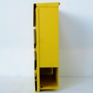 郵便ポスト郵便受け飾りバー付スタンド型メールボックスマグネット付きイエロー黄色ポストpm06f-pm234