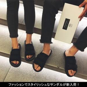 送料無料サンダル スリッパ ペタンコ レデイース メンズ カップル ビーチ 男女兼用 歩きやすい 美脚 軽量 夏 リラックス