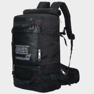 メンズ レディース バックパック リュック 黒リュック 無地 ウォーキング トレッキング キャンプ 登山 遠足 容量45L