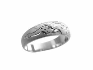 指輪 鍛造(たんぞう) 純プラチナ月甲(つきこう)鶴亀彫5mm6.5g プラチナリング 彫金 オリジナル