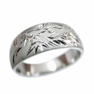 指輪 大きいサイズ 鍛造(たんぞう) 純プラチナ(Pt999)平月甲龍神彫リング14g プラチナリング 彫金 オリジナル