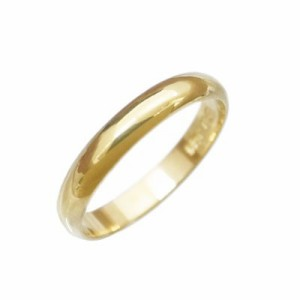 指輪 大きいサイズ 鍛造(たんぞう) K18甲丸(こうまる)リング巾4mm6g ゴールドリング オリジナル オーダーリング ペア
