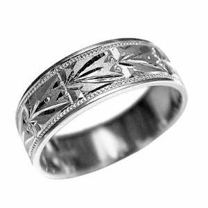 指輪 大きいサイズ 鍛造(たんぞう) P900平打りんどう彫リング巾6mm10g プラチナリング 彫金 ペア オリジナル