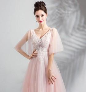 92d7bc4736472 送料無料 お得 高品質 パーティドレス ロングドレス ピンク 舞台ドレス カラードレス 結婚