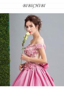 ウェディングドレス パーティドレス 舞台衣装 二次会 結婚式 司会者 披露宴 カラードレス ロングドレス 2018夏新作 送料無料