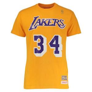 お取り寄せ NBA レイカーズ シャキール・オニール ネーム & ナンバー Tシャツ Mitchell & Ness