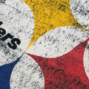 NFL スティーラーズ ディストレスト ロゴ Tシャツ ヘザー