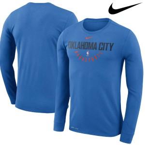 お取り寄せ NBA Nike/ナイキ サンダー プラクティス ロングスリーブ パフォーマンス Tシャツ ブルー