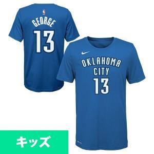 お取り寄せ NBA サンダー ポール・ジョージ ネーム & ナンバー キッズ Tシャツ 半袖 ナイキ/Nike ブルー