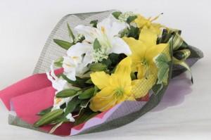 造花 カサブランカの花束 シルクフラワー CT触媒