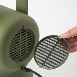 コンパクトウッドハンドルヒーター ハンドル付き ヒーター セラミックヒーター 足元 オフィス 暖房 一人用 送風 あったか BRUNO ブルーノ