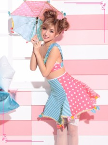 コスプレ 衣装 3set レインボーフェアリーコスチュームセット カラフル 派手 ポップ ハロウィン 衣装