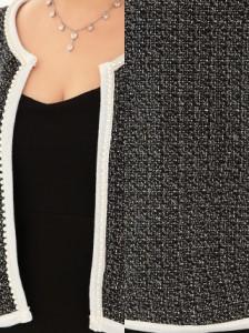 Tika ティカ ツイードジャケット×ベアタイト ミニドレスセットアップ XLサイズ ブラック 黒 ジャケット ボレロ キャバ 結婚式 二次会 お