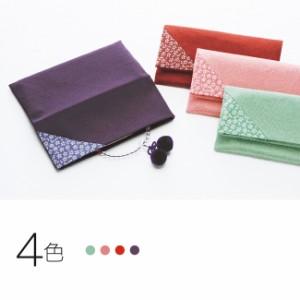 むす美/musubi 風呂敷 ちりめん桜小紋念珠入れ 16.5×17.5cm 箱入