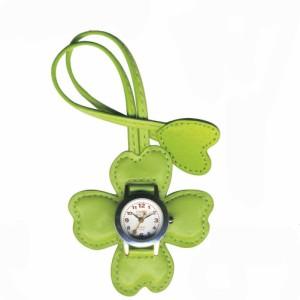 EP303 バックに付けるアクセサリー時計 ハングウォッチ クローバー/グリーン