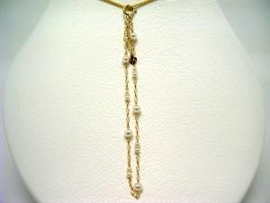 真珠 パール アコヤ真珠 ブレスレット 真珠ブレスレット パールブレスレット 3.5-4.0mm・2.5mm K18 イエローゴールド チェーン 64744