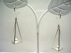 真珠 パール アコヤ真珠 フック ピアス 真珠ピアス パールピアス 4.0-4.5mm K14 ホワイトゴールド 62573