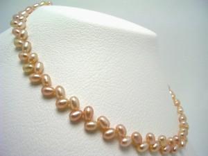 真珠 パール 淡水真珠 クレオパトラ ネックレス 真珠ネックレス パールネックレス 5.0-6.0mm 65212