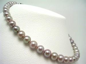 真珠 パール 淡水真珠 ネックレス 真珠ネックレス パールネックレス 8.9-9.6mm 65217