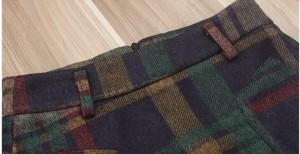 ミニスカート タイト 大きめポケット ガーリー サイズ豊富 チェック柄