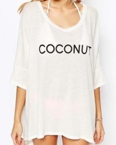 【即納】ゆるテロ♪ロゴ プリント ビーチ Tシャツ カットソー ゆったり おしゃれ かわいい トップス
