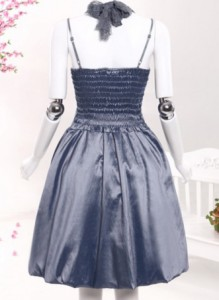 【即納】結婚式 パーティー 二次会 首元リボン 花柄レース  ドレス ワンピース ひざ丈 ノースリーブ