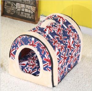 送料無料 ペットハウス クッション 小型犬 子犬 子猫 ウサギ 折りたたみ 2way仕様 室内用 6タイプ 屋根付き 通年用 夏対策ベット サイズM