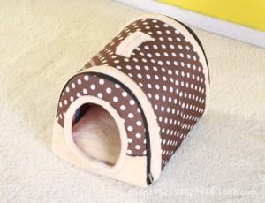 ペットハウス クッション 小型犬 子犬 子猫 ウサギ 折りたたみ 2way仕様 室内用 6タイプ 屋根付き 通年用 夏対策ベット サイズL 送料無料