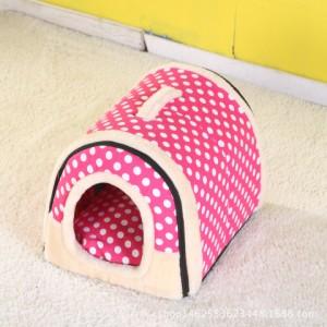 ペットハウス クッション 小型犬 子犬 子猫 ウサギ 折りたたみ 2way仕様 可愛い 室内用 6タイプ 屋根付き 通年用 夏対策ベット サイズS