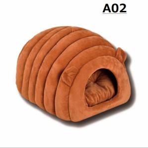 秋冬 犬 猫ベッド ペットハウス 子犬用ベット ペットソファ ドーム型 ホカホカ ぐっすり眠れる 寒さ対策 クッション 寝袋 送料無料 全4色