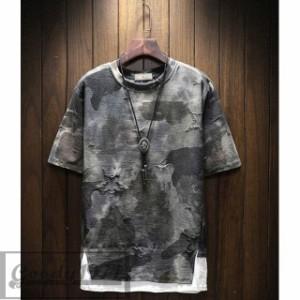 8c626449530e 送料無料 半袖Tシャツ Tシャツメンズ 迷彩柄 カジュアルシャツ 大きいサイズ 薄手 トップス